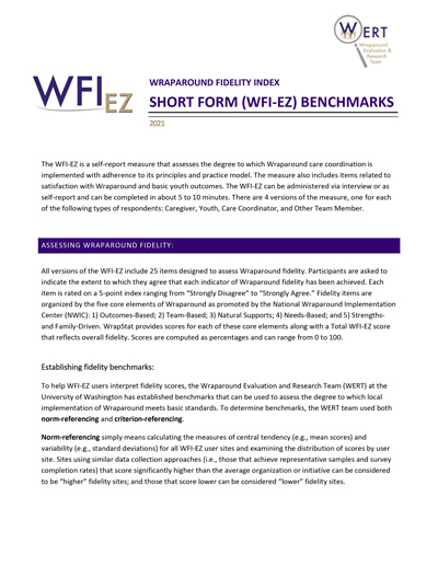 WFI-EZ Wraparound Fidelity Index Benchmarks