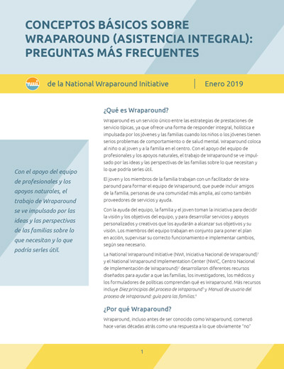 Wraparound Basics: Frequently Asked Questions (Spanish Version)