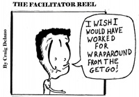 Facilitator Reel comic panel
