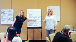 Kim Estep and Kimberly Coviello at the Pre-Institutes