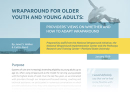 Report: Wraparound for Older Youth and Young Adults