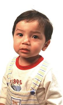 toddler wearing suspenders